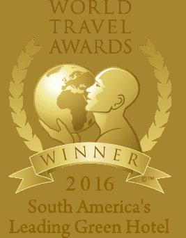 World Travel Awards Winner 2016 - South America's Leading Green Hotel