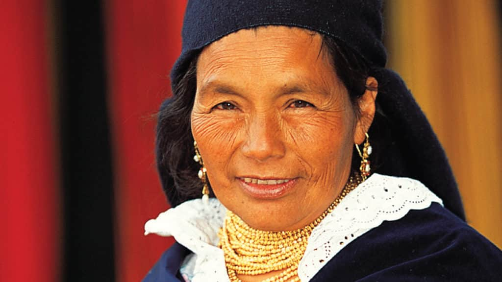 Otavalo's native woman