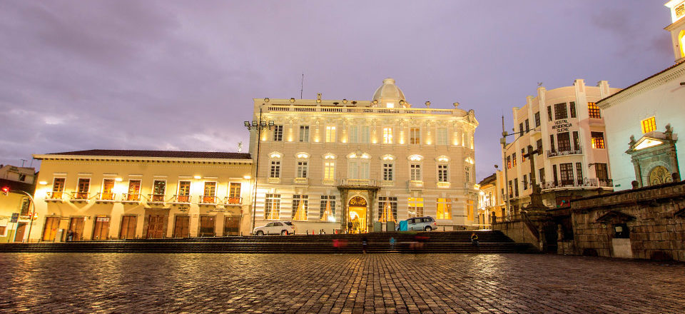 Hotel Casa Gangotena in old town Quito.