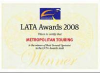Metropolitan Touring's LATA Award 2008
