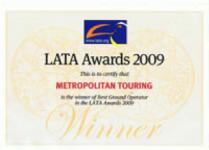 Metropolitan Touring's LATA Award 2009