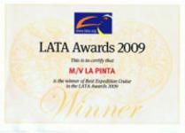 La Pinta Yacht's LATA Award 2009