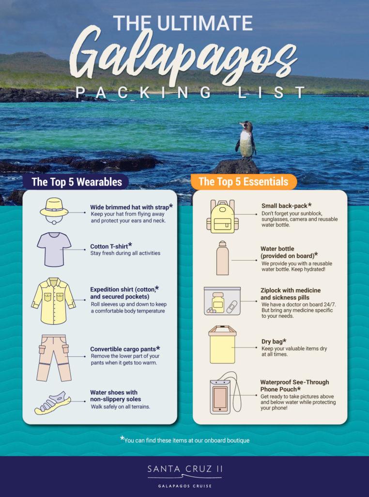 Galapagos Packing List Santa Cruz II Galapagos Cruise