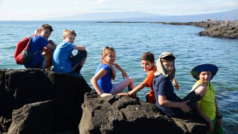 Children in the Galapagos Islands.