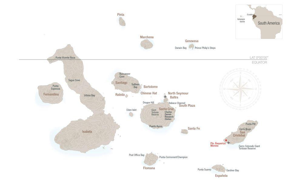 Map of Galapagos.