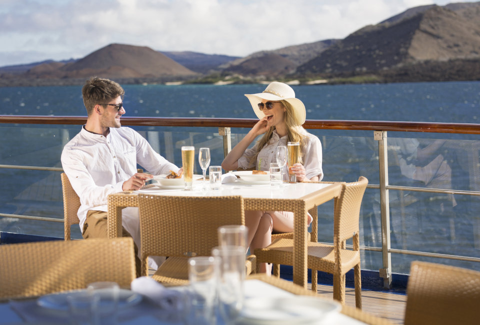 Guests enjoying sunny day in Yacht Isabela II.