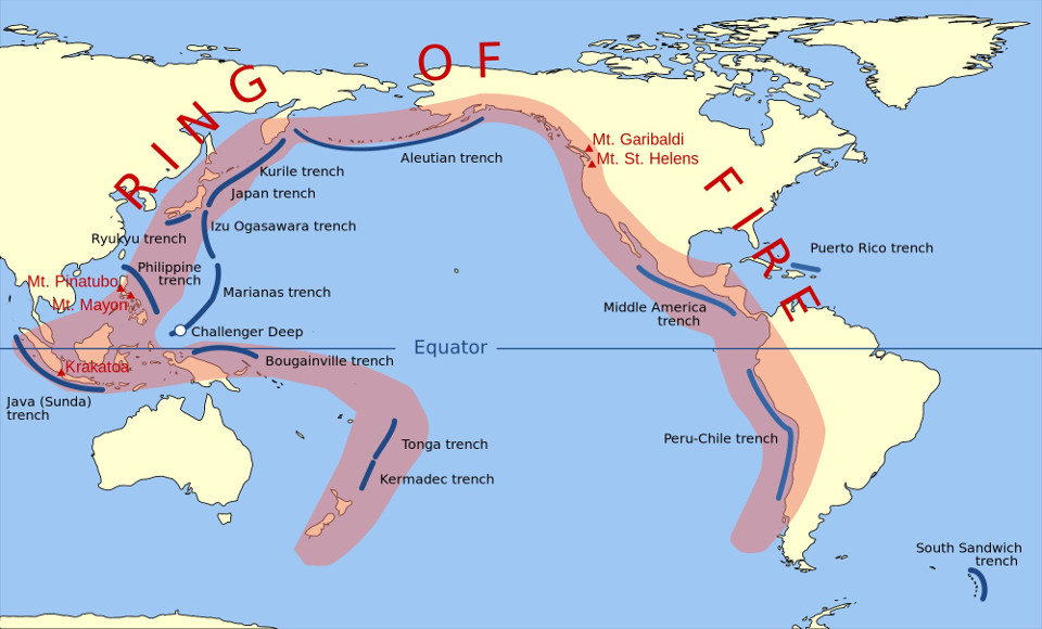 The Pacific Ring of Fire. Image credit: armostrongeconomics.com