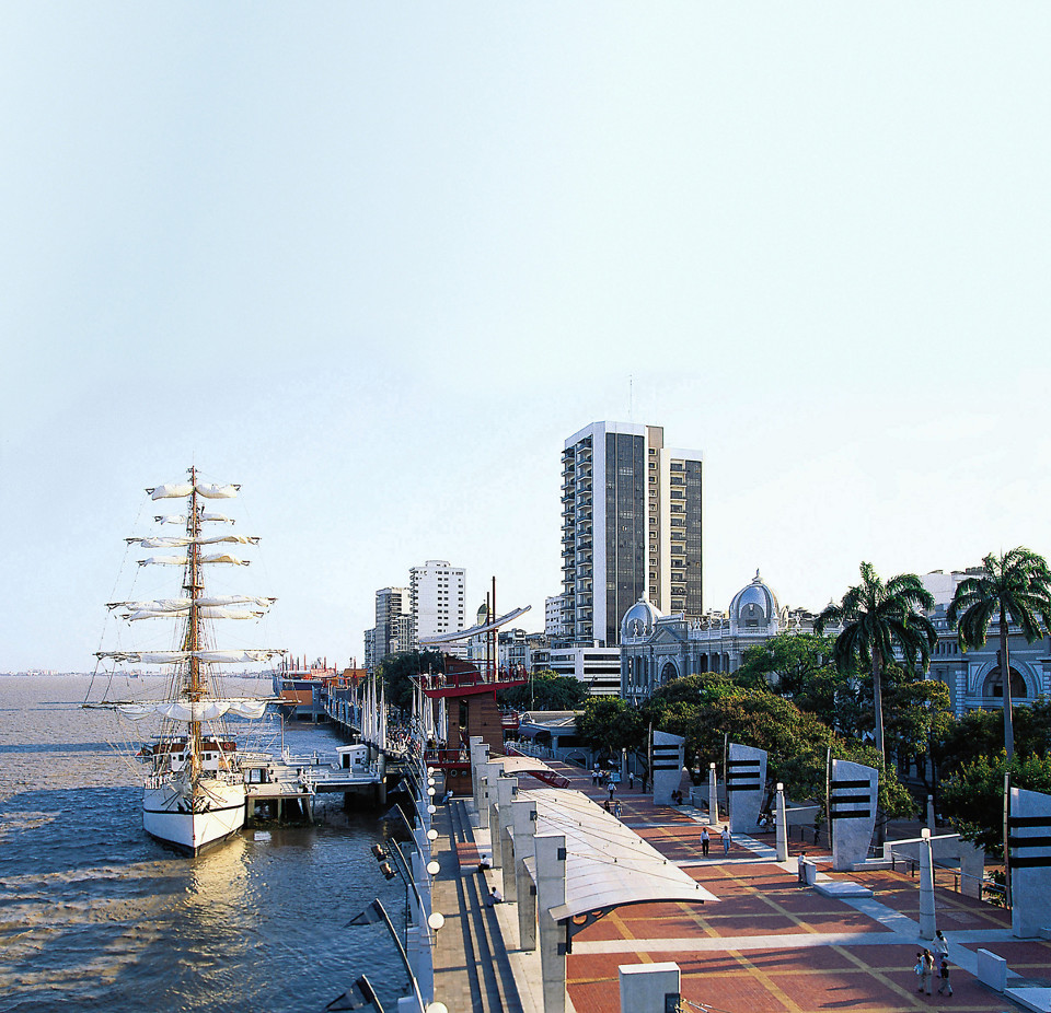 Guayaquil's boardwalk.