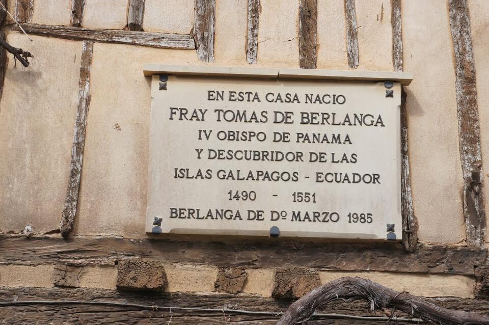The Galapagos Islands casa Berlanga discovery plaque.