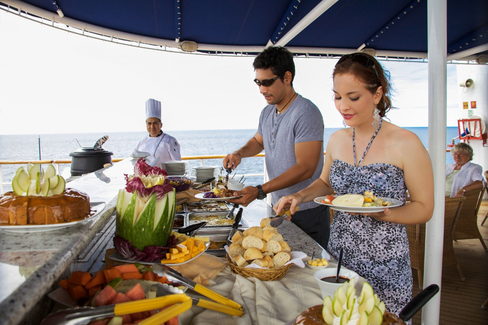 International Women's Day, al fresco, galapagos cruise, buffet