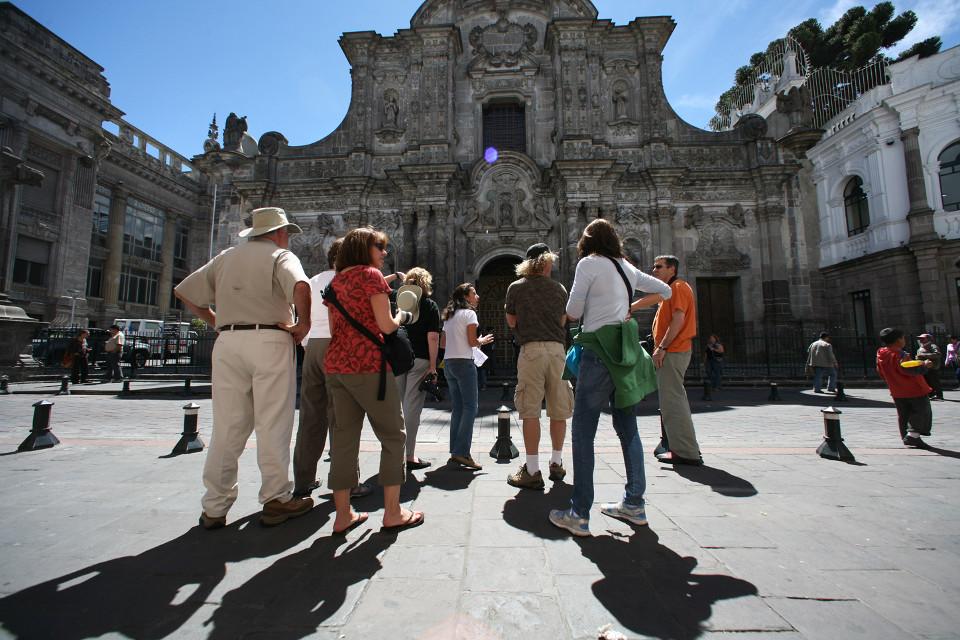 La Compañia church in downtown Quito.