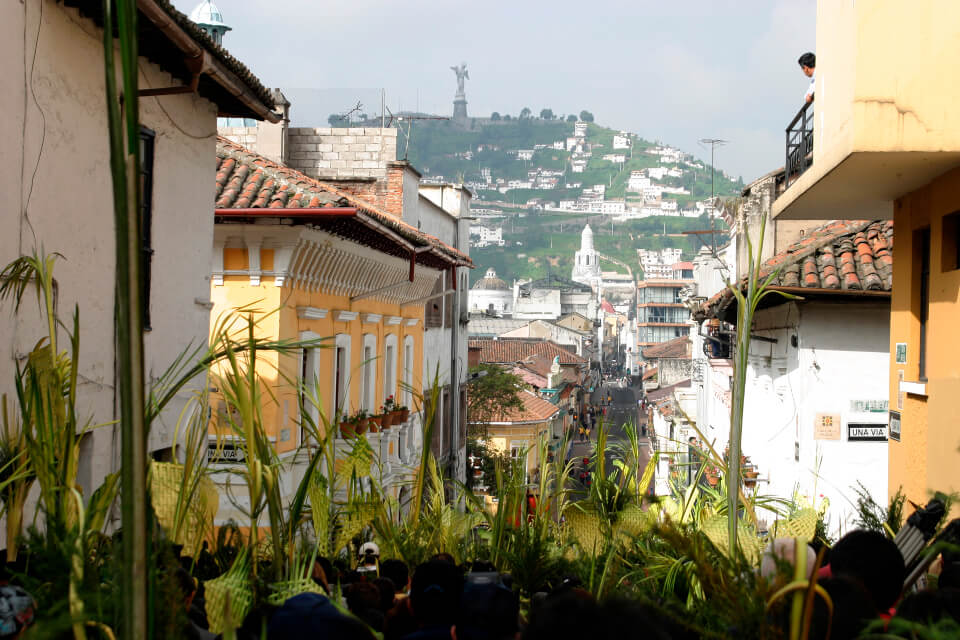 Quito during Holy Week.