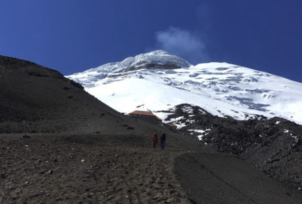 Cotopaxi's path to volcano's refuge.