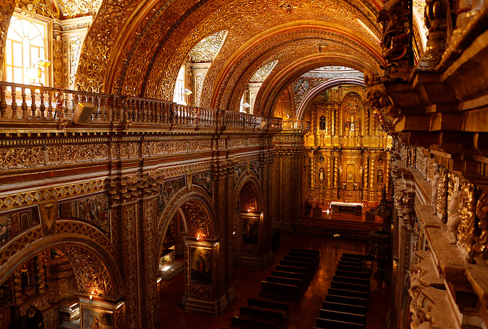 La Compañia church from the inside.