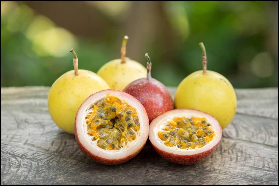 Passion fruit in Ecuador.