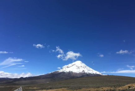 The view of Chimborazo volcano from El Arenal.
