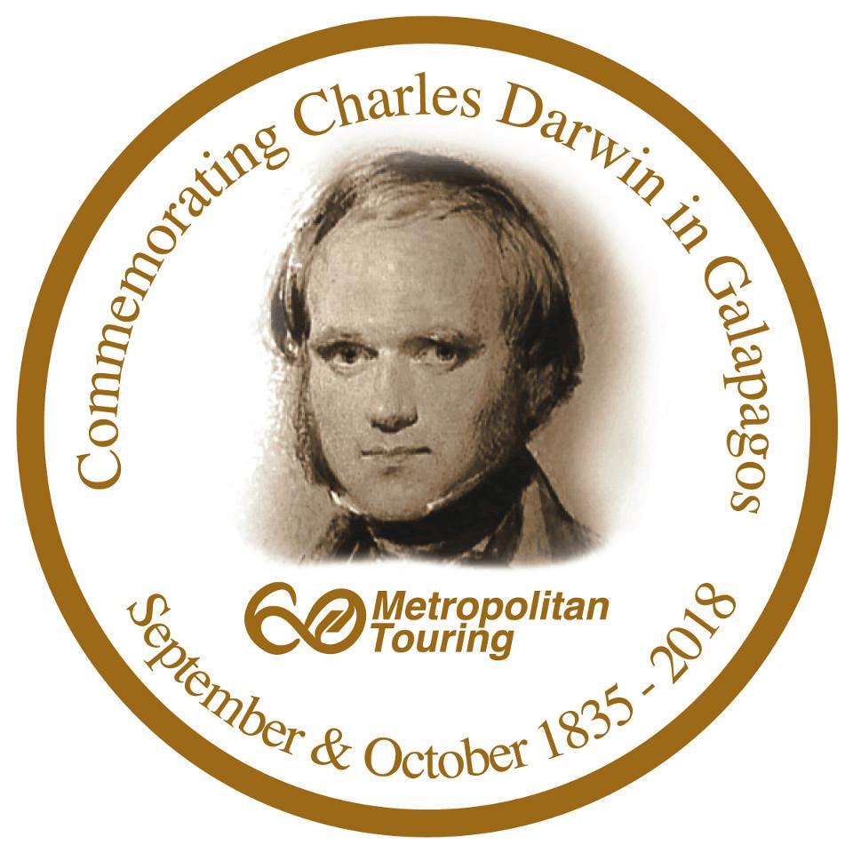 Charles Darwin in Galapagos.