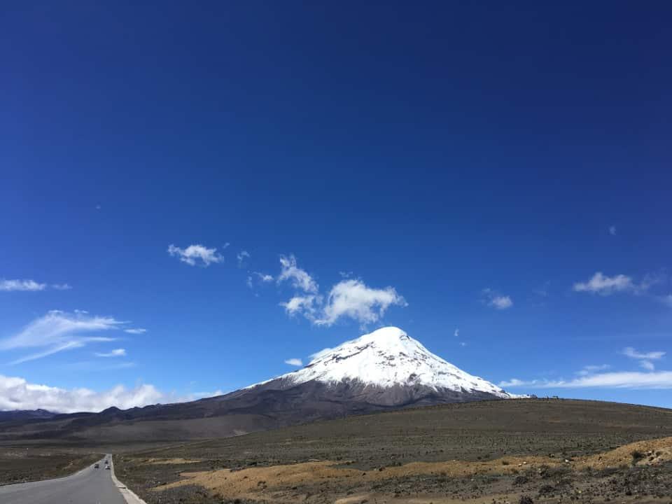 Chimborazo volcano in Ecuador.