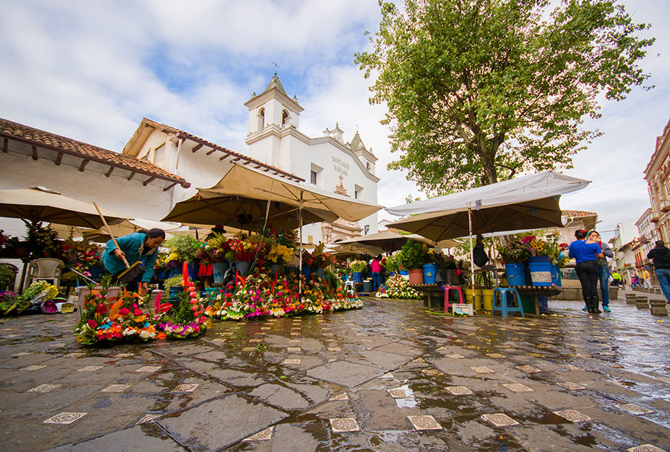 Cuenca's Flower Market.