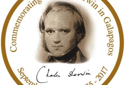 charles darwin in galapagos commemoration