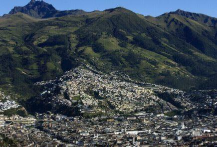 Downtown Quito landscape.