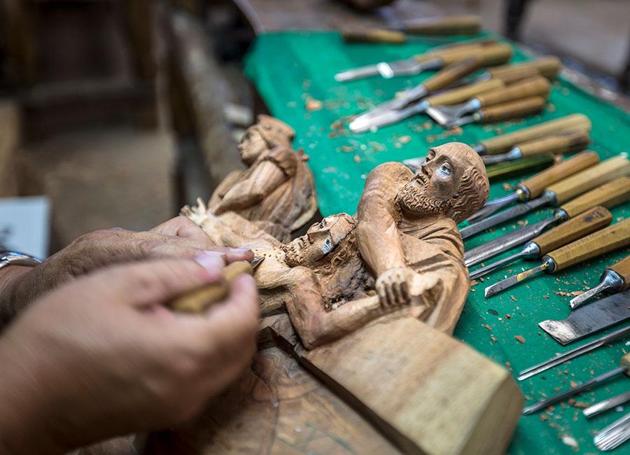 Handicraft workshop in Ibarra.