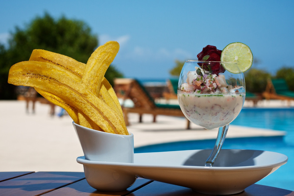 Ceviche in Galapagos islands.