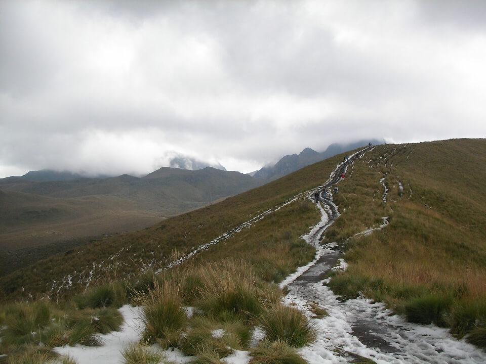 Teleferico trail in Quito.