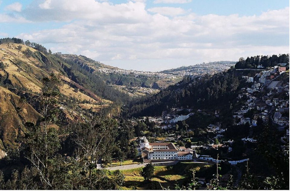 Landscape of Quito, Ecuador.