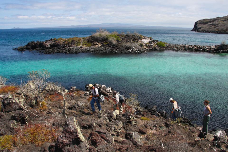 Scientific research at Pinzon Island.