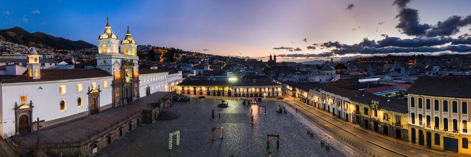 UNESCO heritage site Quito, Ecuador.