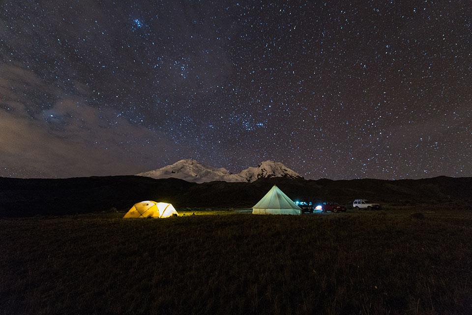 Camping near Antisana volcano