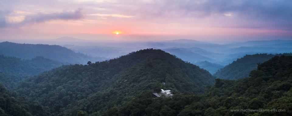 Mashpi Lodge at sunset, Choco Cloud Rainforest.