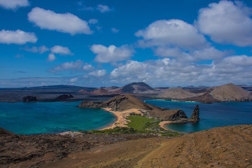 Galapagos Bartolome Island landscape.