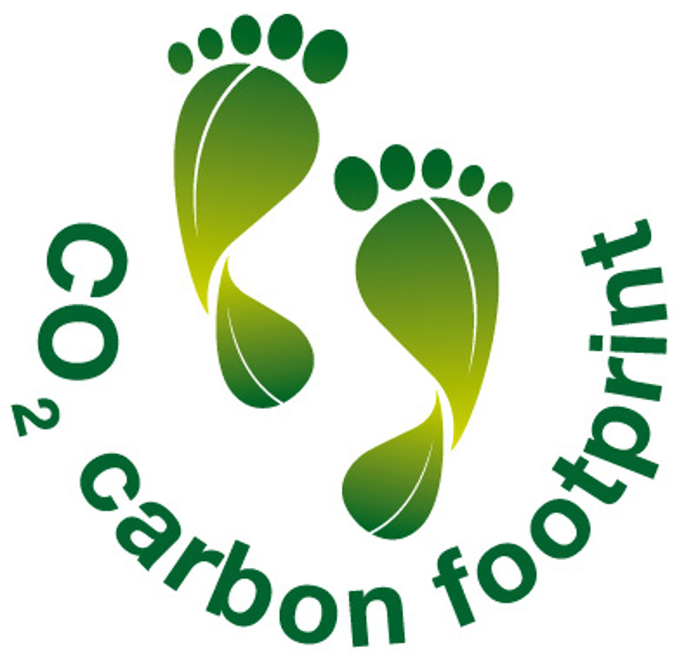 CO2 footprint logo.