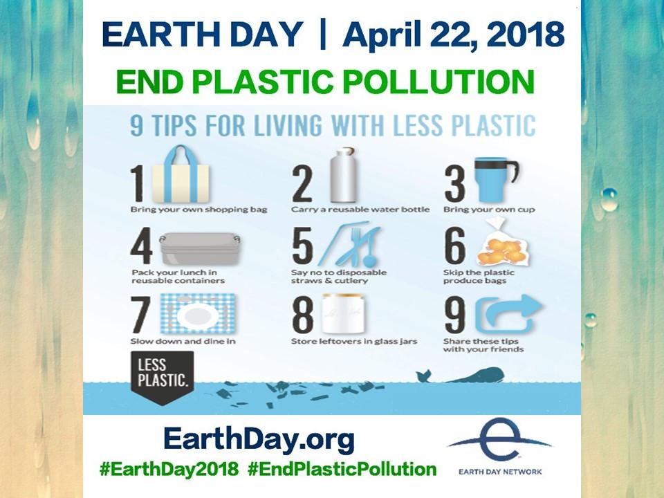Earth day 2018 theme.