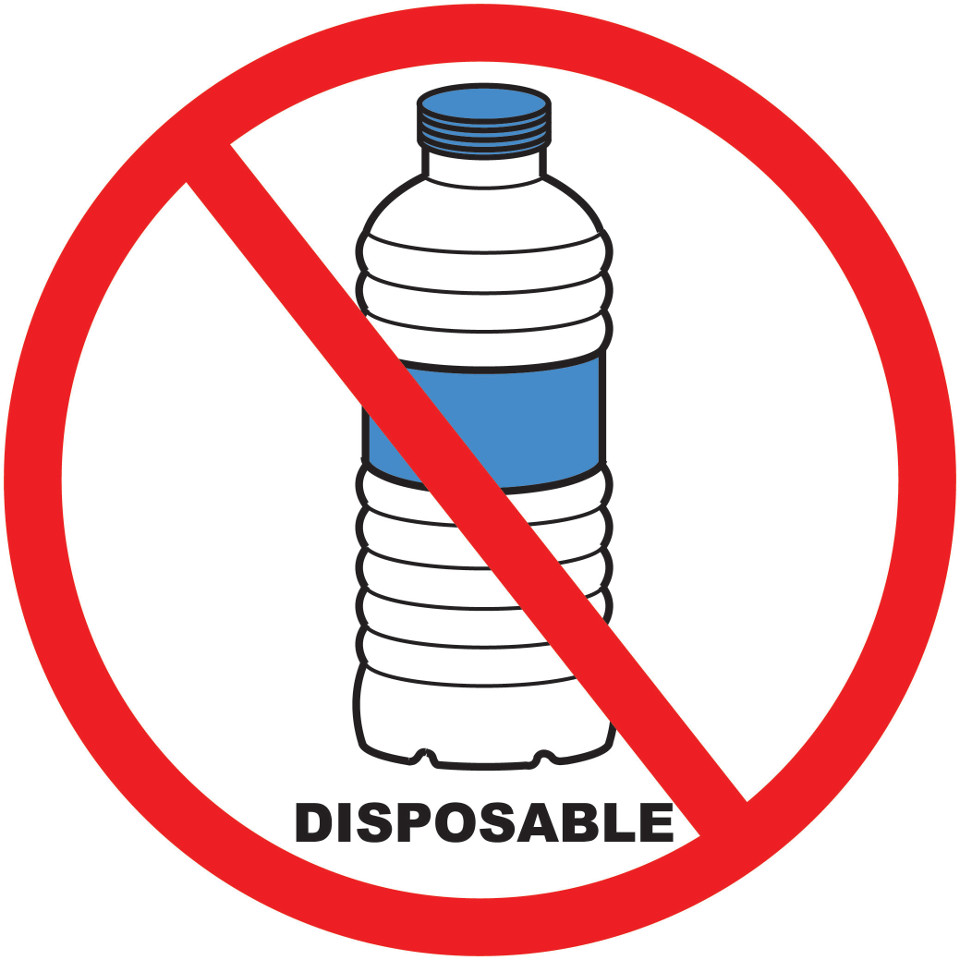 No plastic bottle logo.
