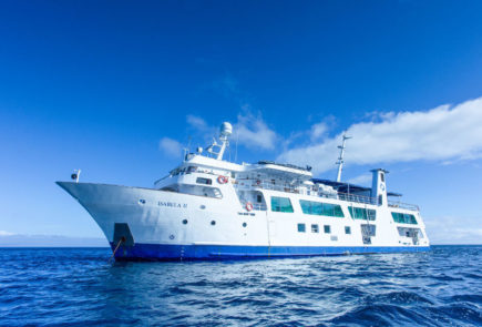 Yacht Isabela II in the Galapagos Islands.