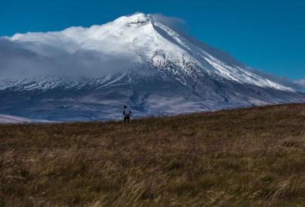 Cotopaxi volcano in Ecuador.