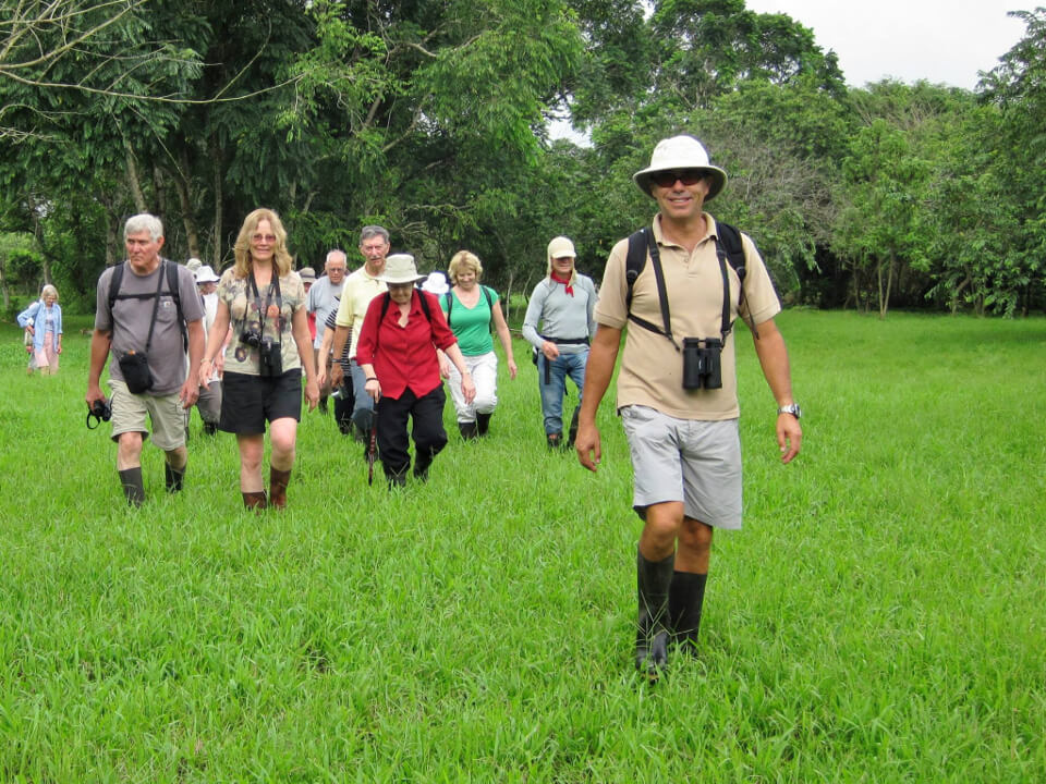 Galapagos naturalist guide on a tour.