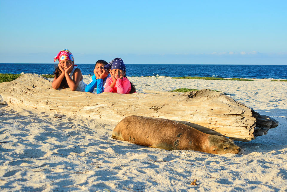 Activities for kids on a Galapagos cruise.