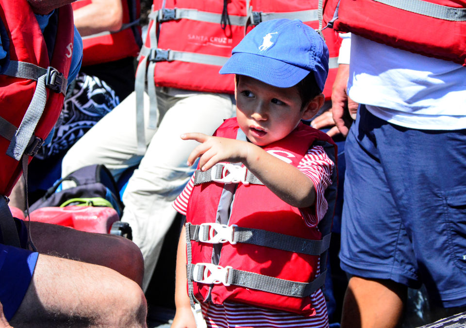 Kids are safe on the Galapagos cruises.