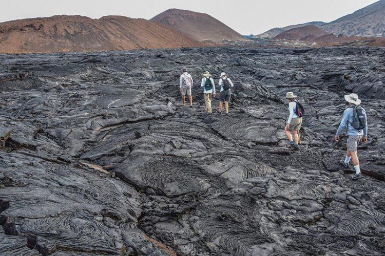 lava flows in galapagos