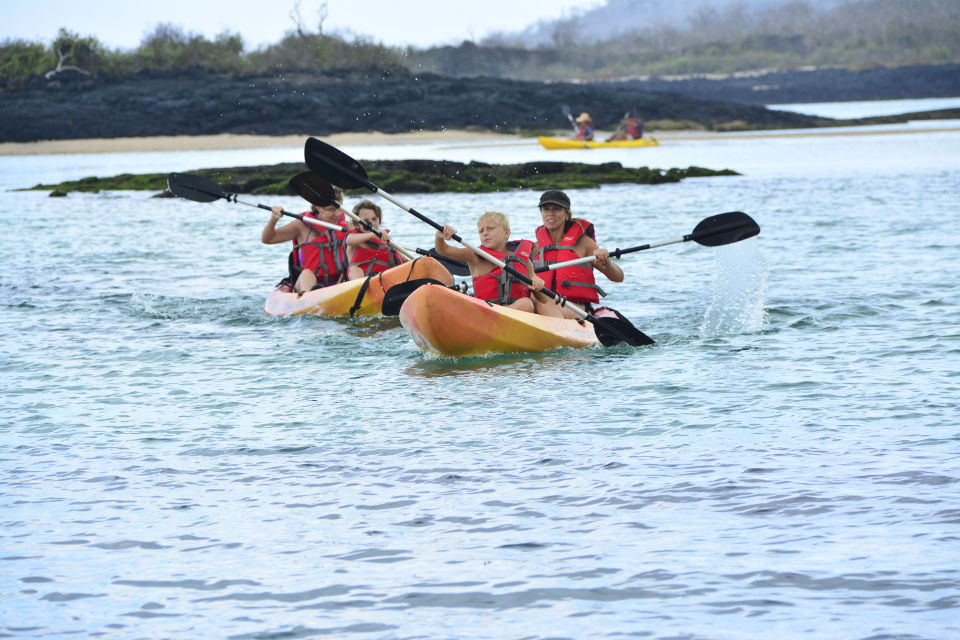 kayaking in galapagos