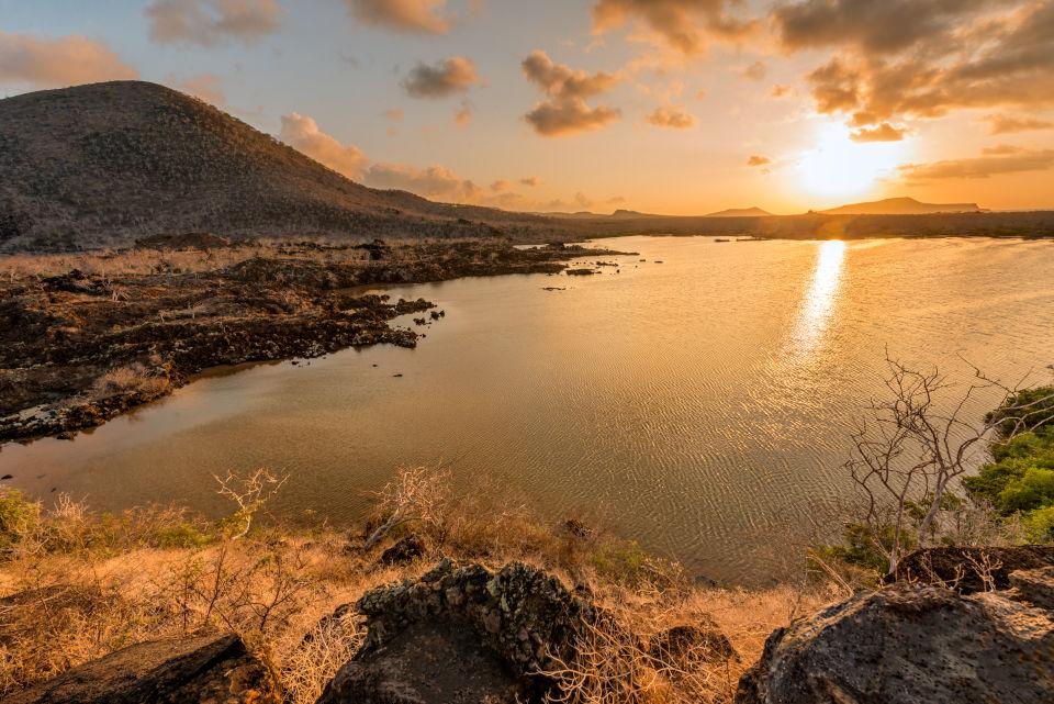 Cormorant point at Floreana Island.