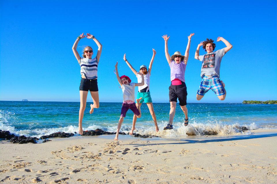 Family vacations in Galapagos.
