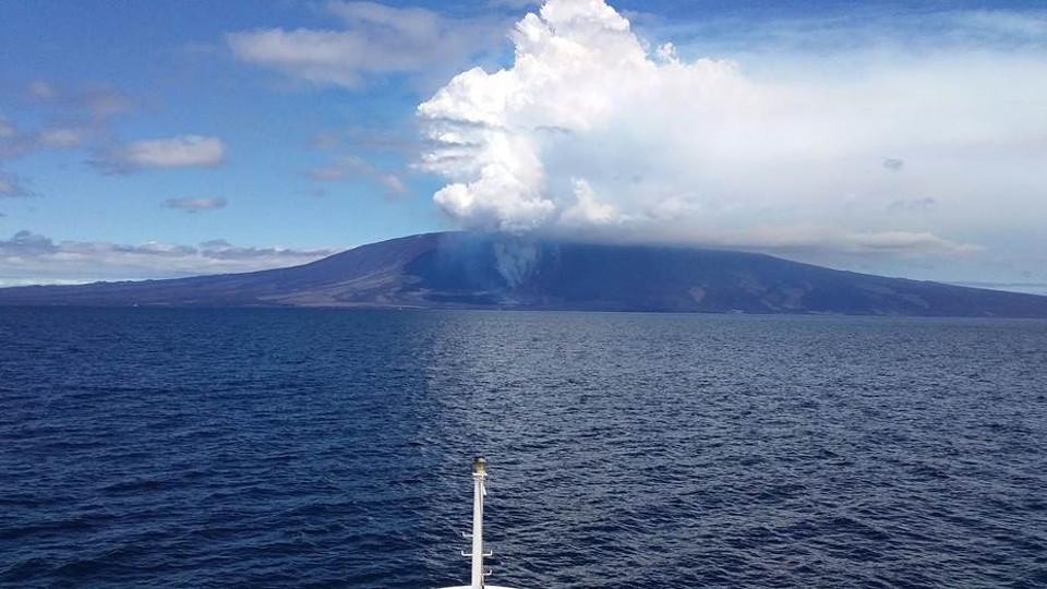 Fernandina Volcanic Eruption 2018 in Galapagos