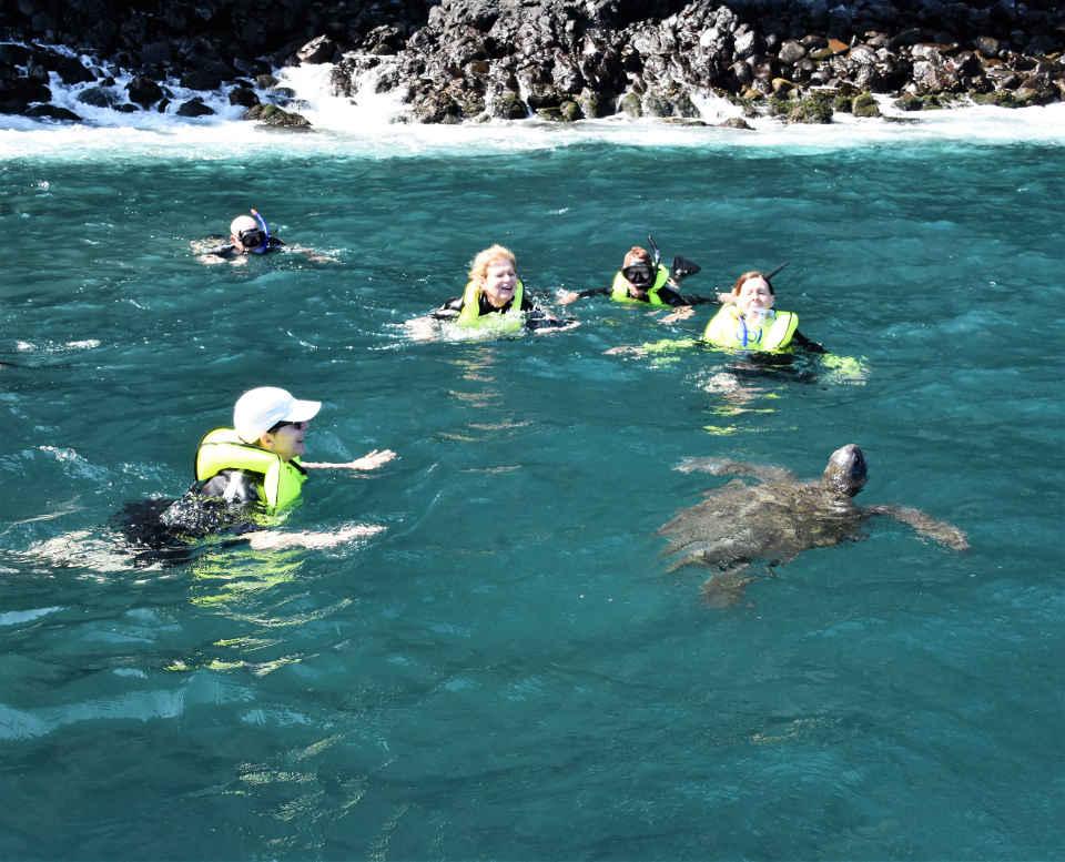 Snorkeling in Galapagos.