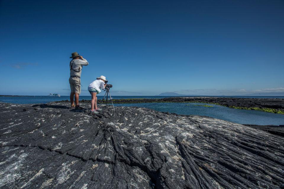Galapagos landscape watching.