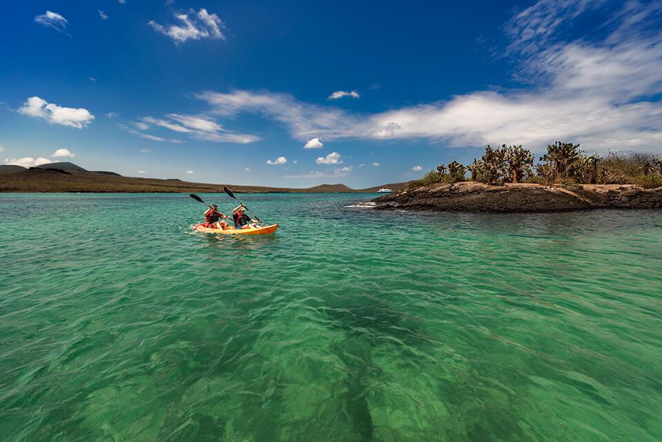 Kayaking Floreana Island.